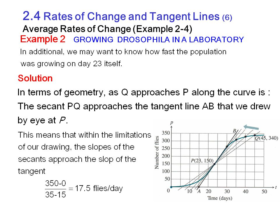 2.4 Rates of Change and Tangent Lines (6) Average Rates of Change (Example 2-4)