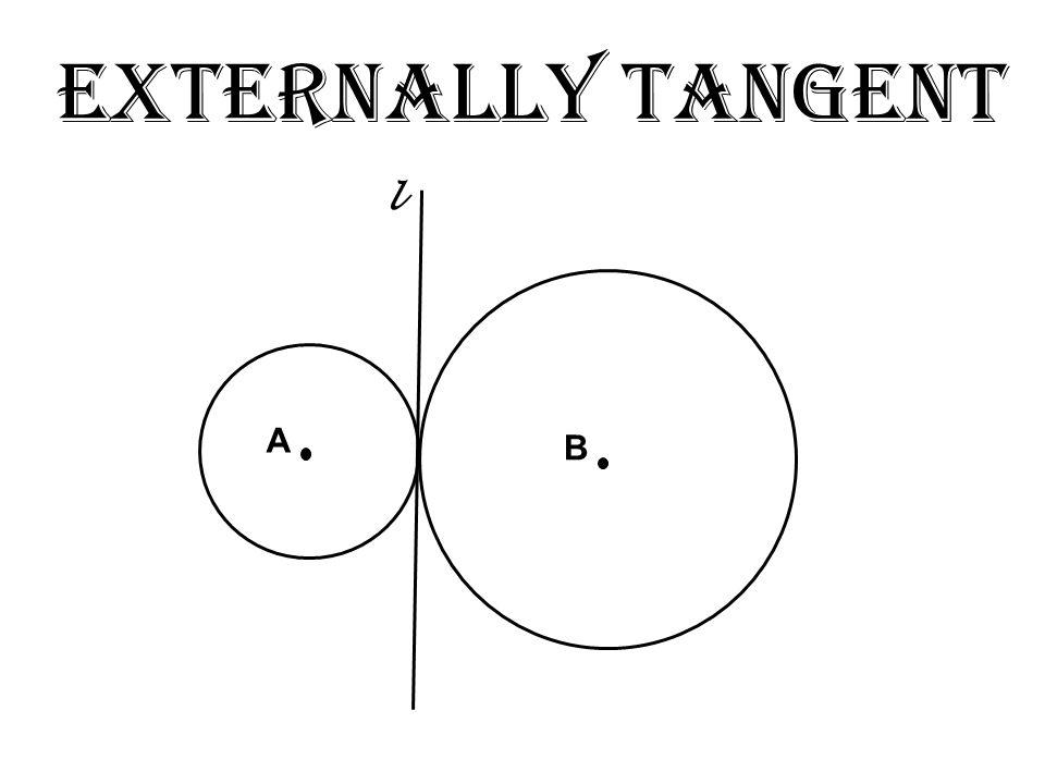 Externally Tangent l A B