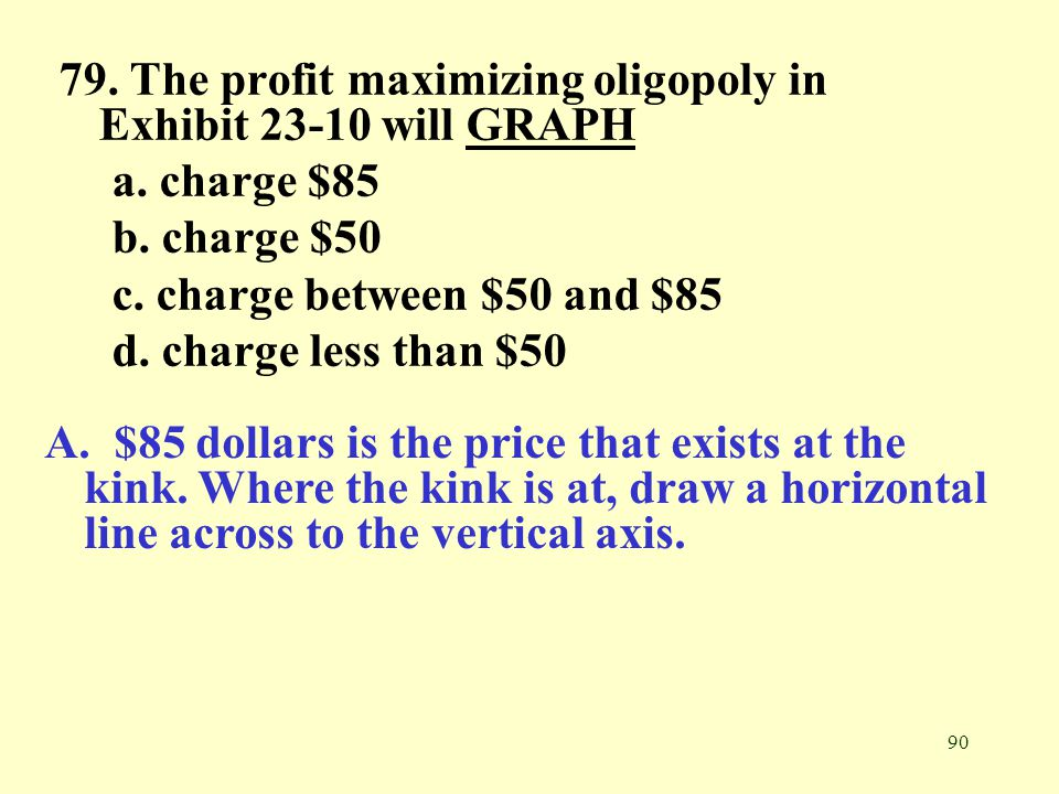 79. The profit maximizing oligopoly in Exhibit 23-10 will GRAPH