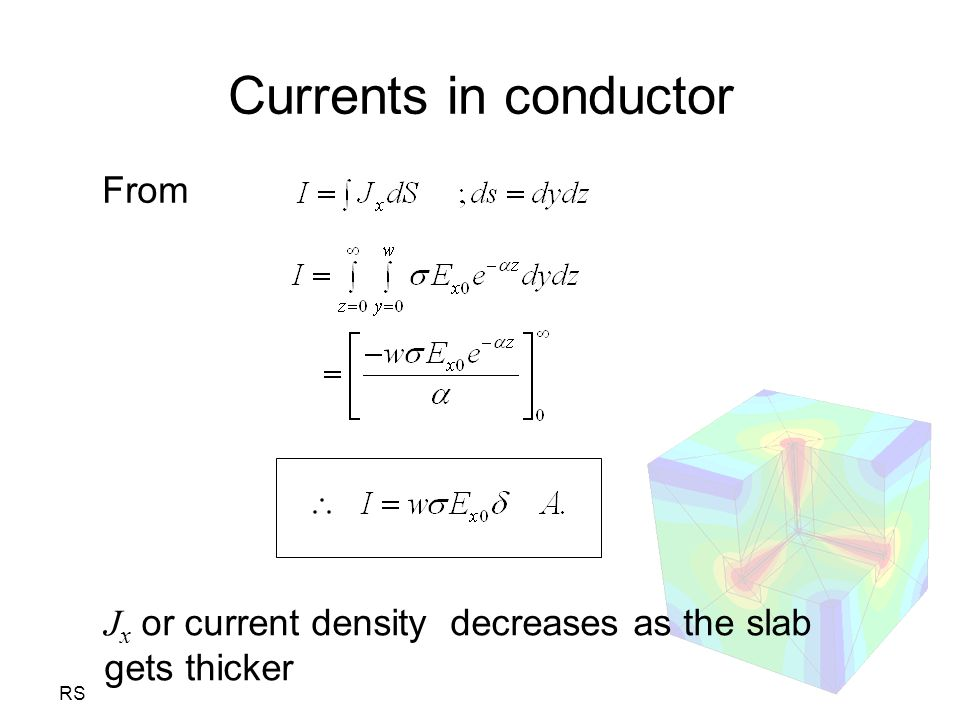 Currents in conductor From