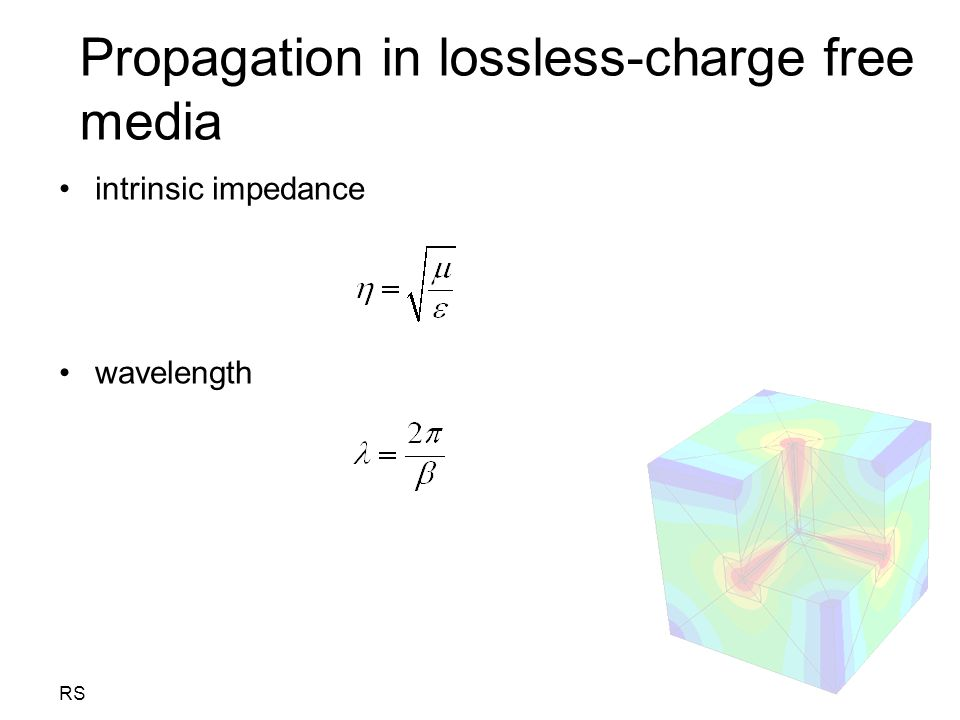 Propagation in lossless-charge free media