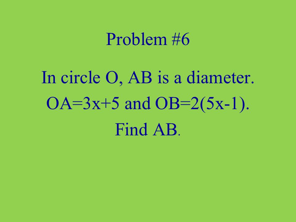 In circle O, AB is a diameter.