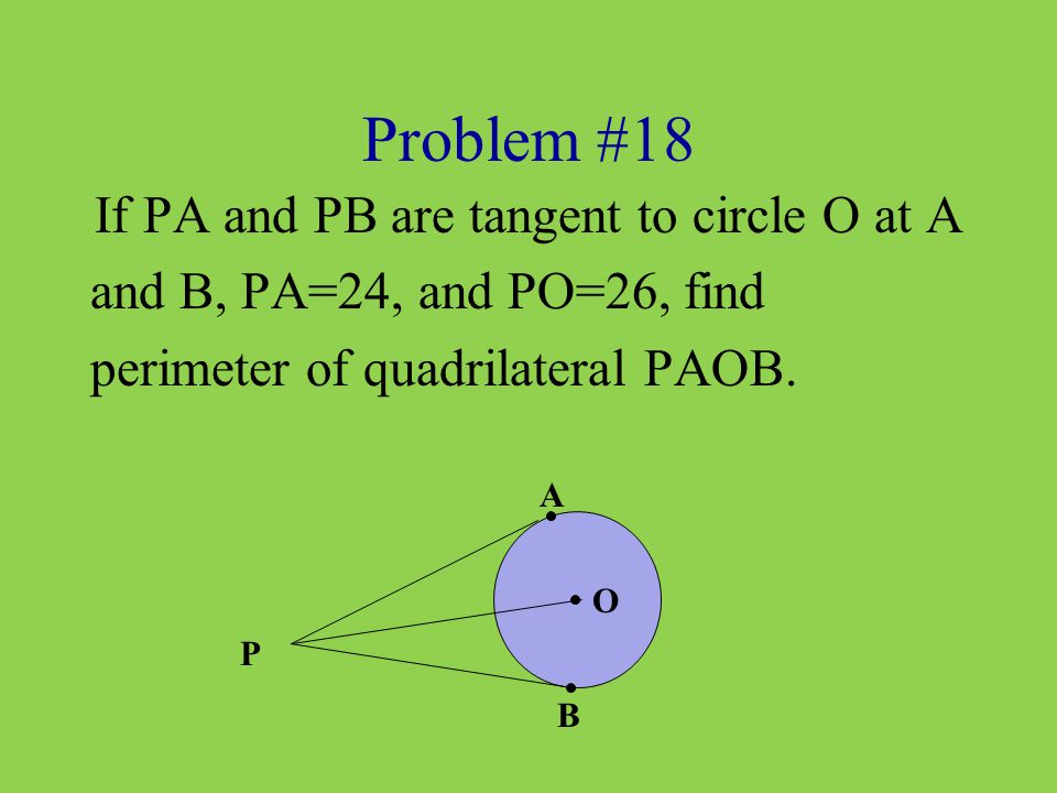 If PA and PB are tangent to circle O at A