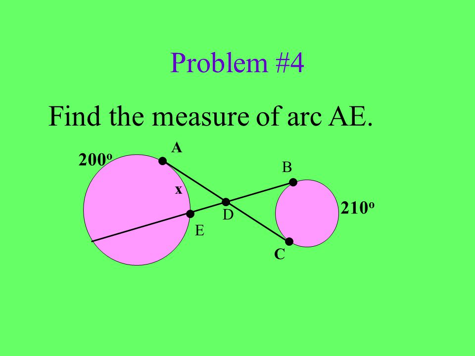 Find the measure of arc AE.