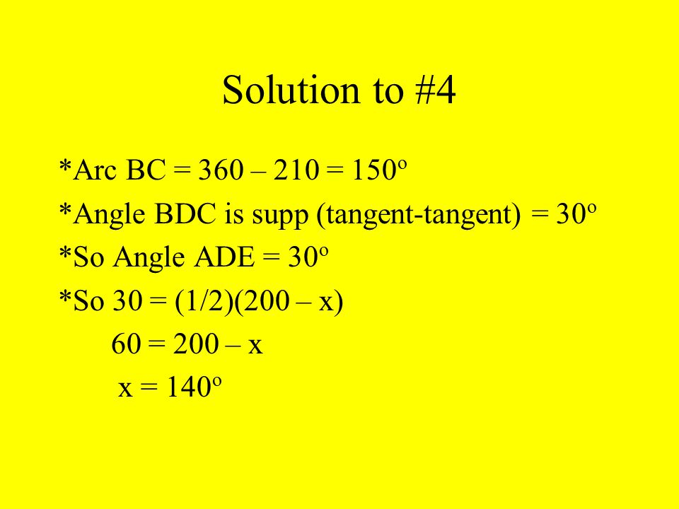 Solution to #4