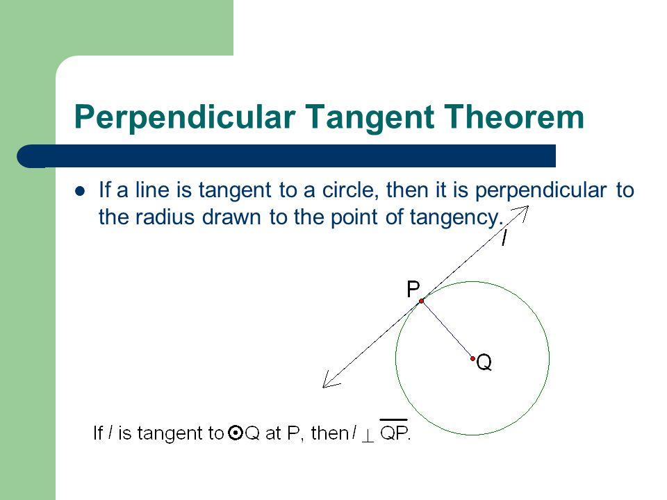 Perpendicular Tangent Theorem