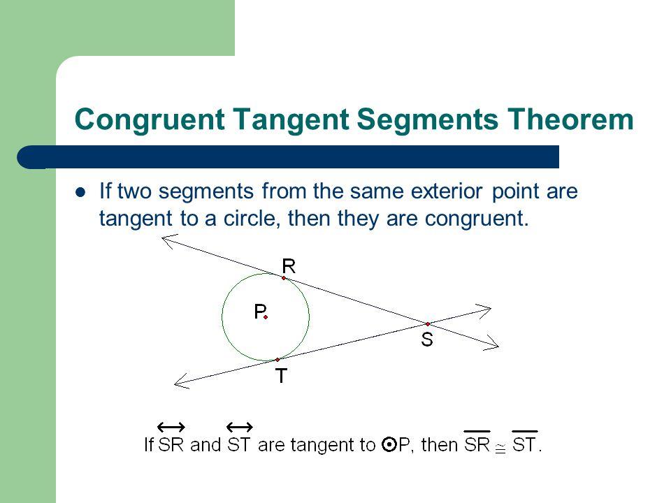 Congruent Tangent Segments Theorem