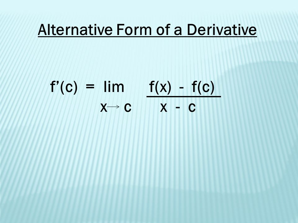 2 1 The Derivative And The Tangent Line Problem Ppt Download