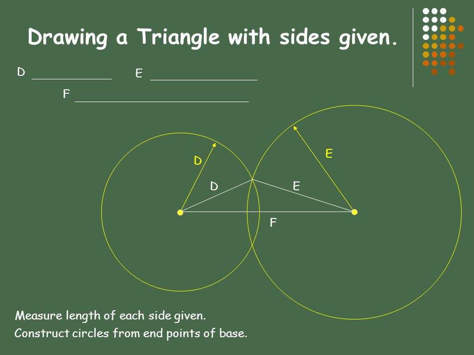 Drawing a Triangle with sides given.