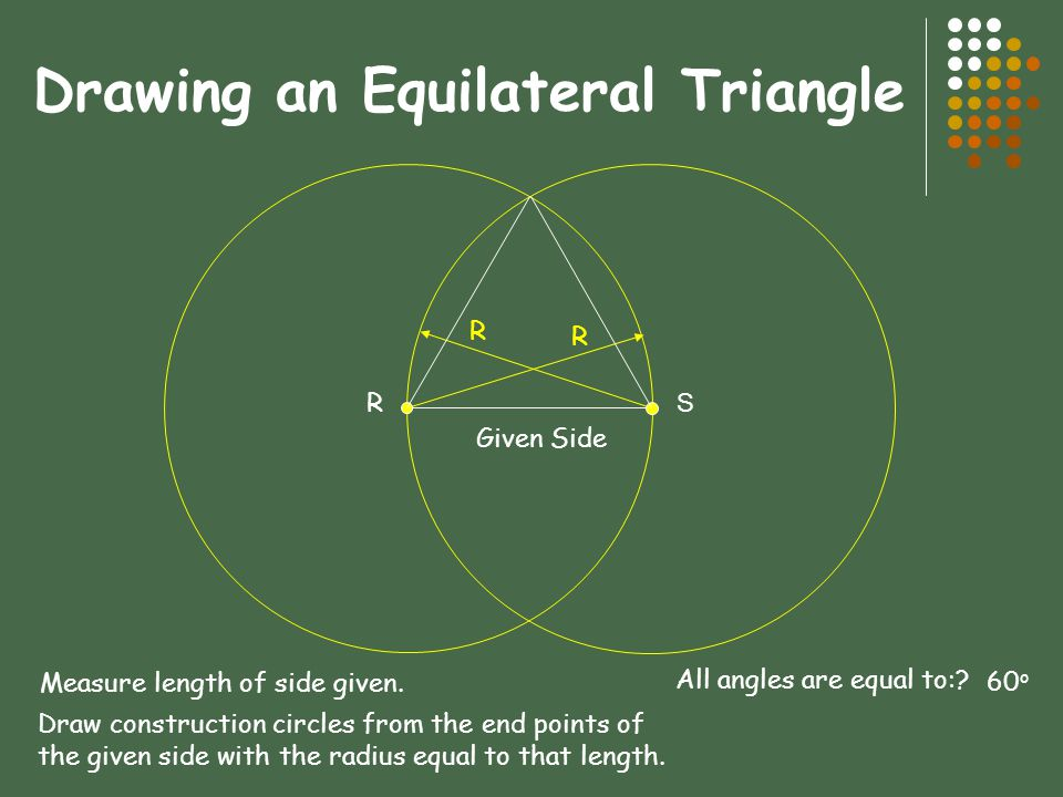 Drawing an Equilateral Triangle