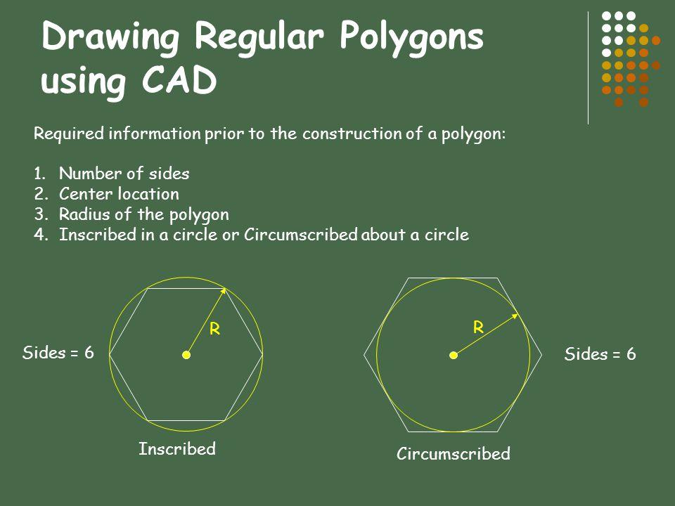 Drawing Regular Polygons using CAD