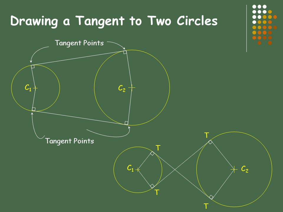 Drawing a Tangent to Two Circles