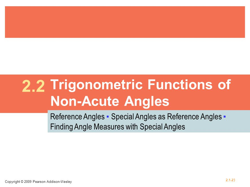Trigonometric Functions of Non-Acute Angles