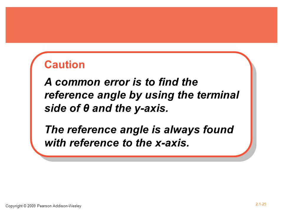 The reference angle is always found with reference to the x-axis.
