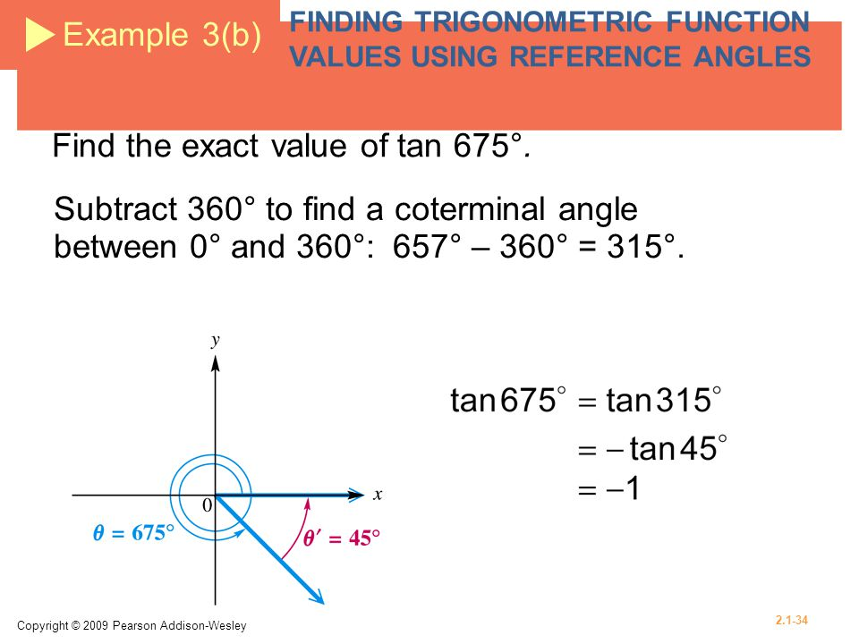 Find the exact value of tan 675°.