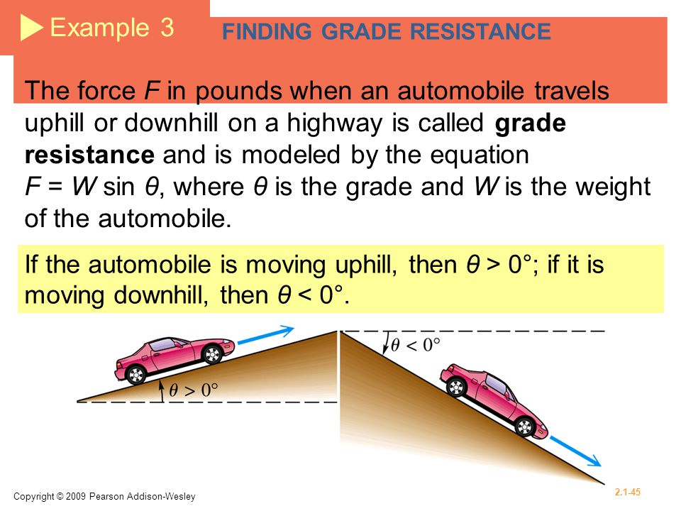 Example 3 FINDING GRADE RESISTANCE.