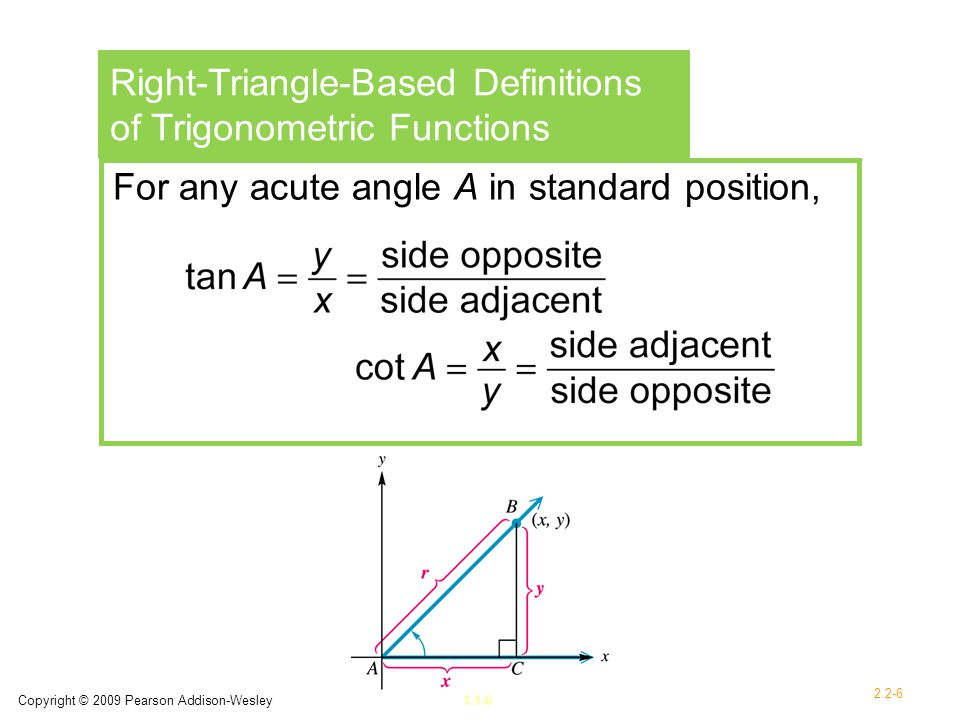 Right-Triangle-Based Definitions of Trigonometric Functions