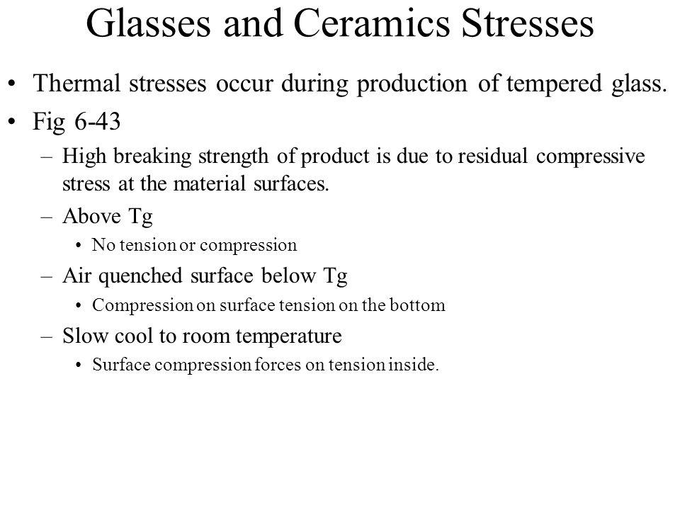 Glasses and Ceramics Stresses