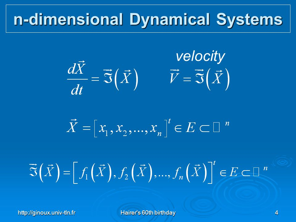 n-dimensional Dynamical Systems