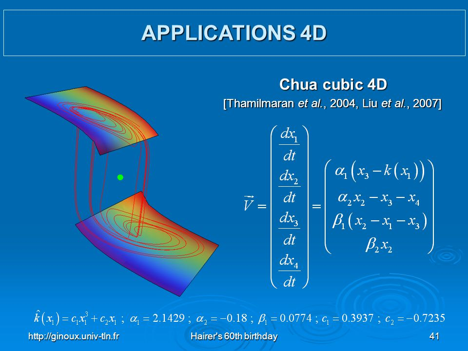 APPLICATIONS 4D Chua cubic 4D