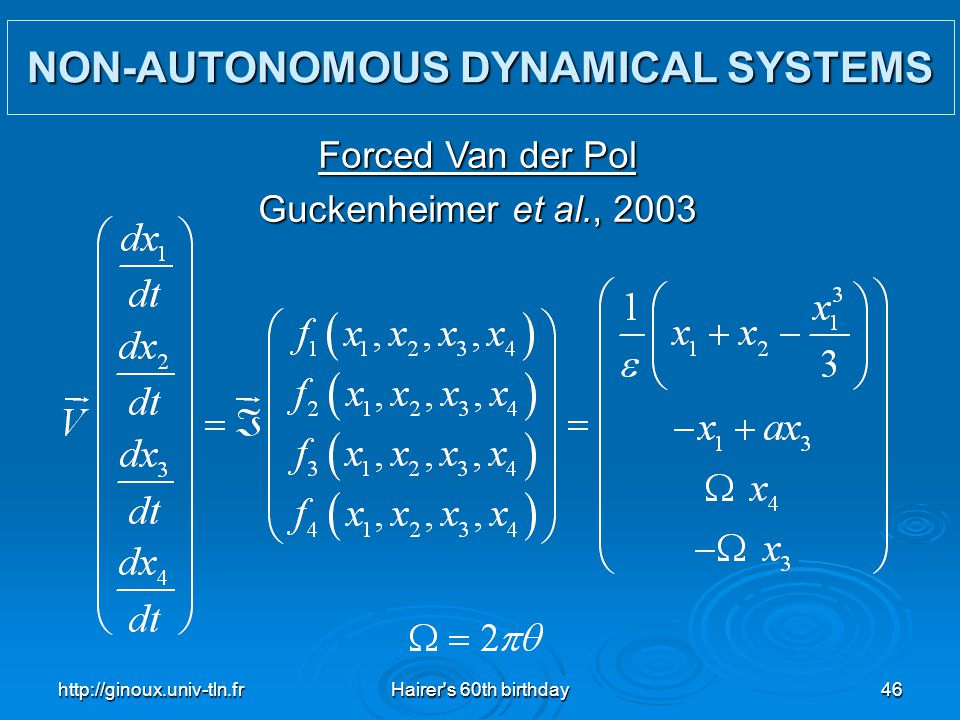 NON-AUTONOMOUS DYNAMICAL SYSTEMS
