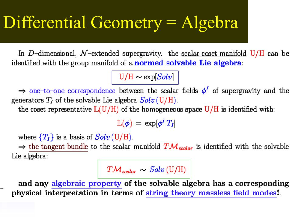 Differential Geometry = Algebra