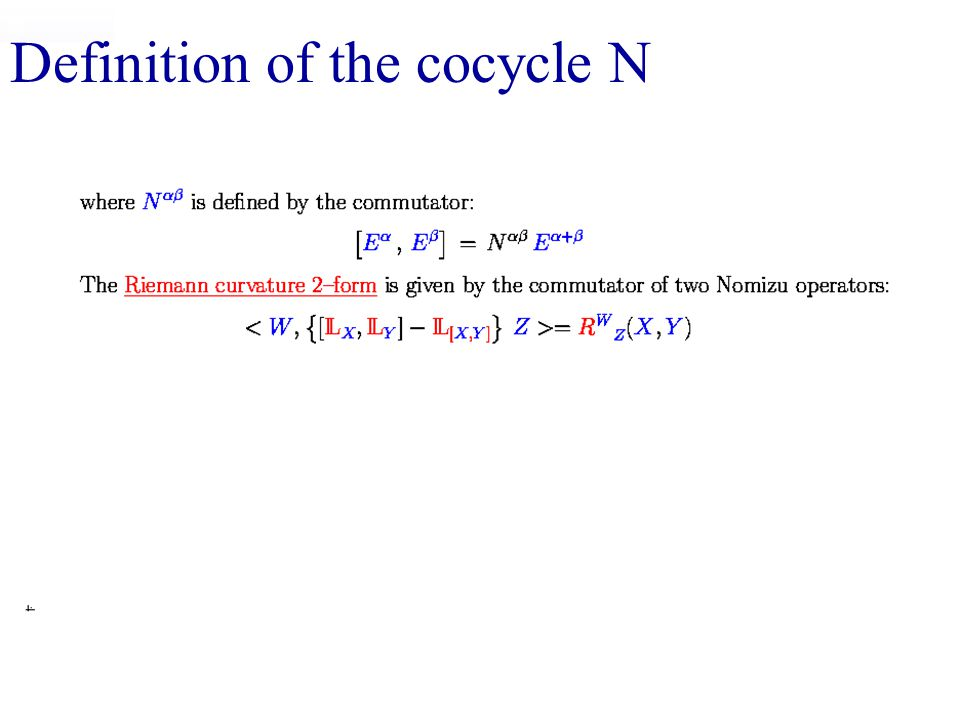 Definition of the cocycle N