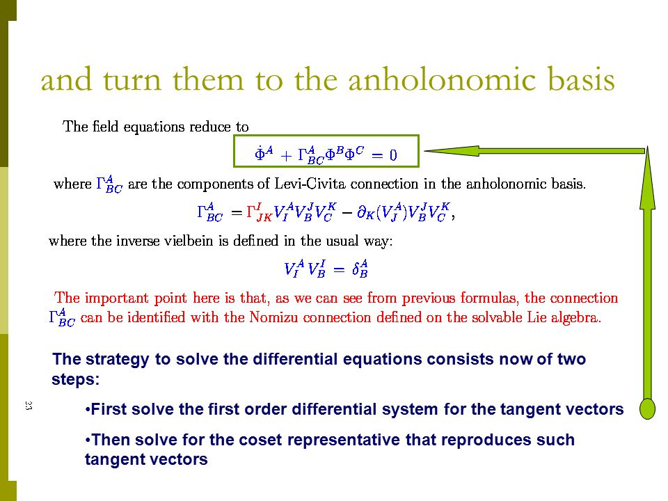 and turn them to the anholonomic basis