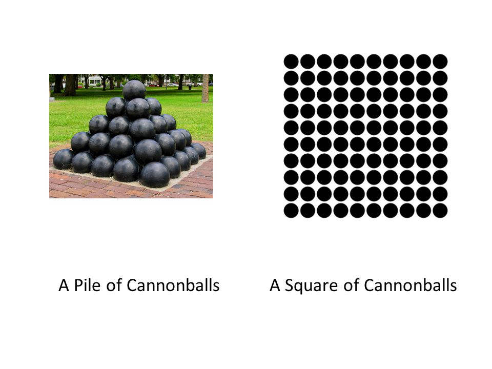 A Pile of Cannonballs A Square of Cannonballs