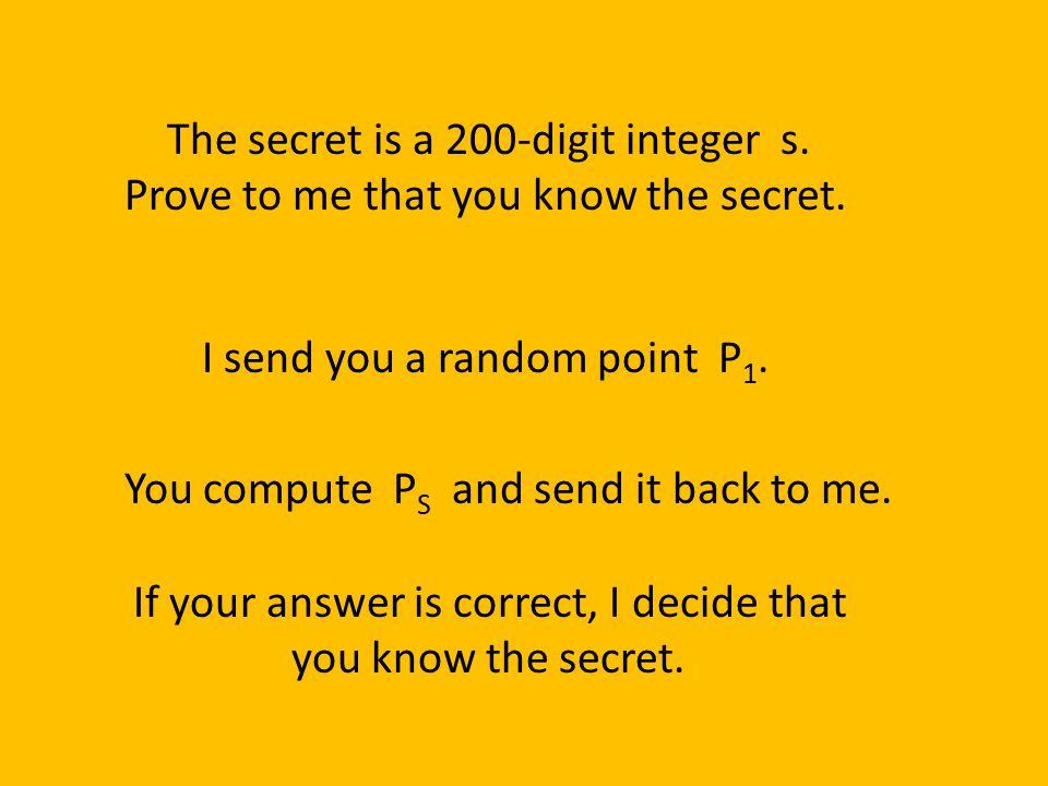 The secret is a 200-digit integer s.