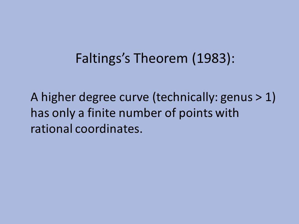 Faltings's Theorem (1983):