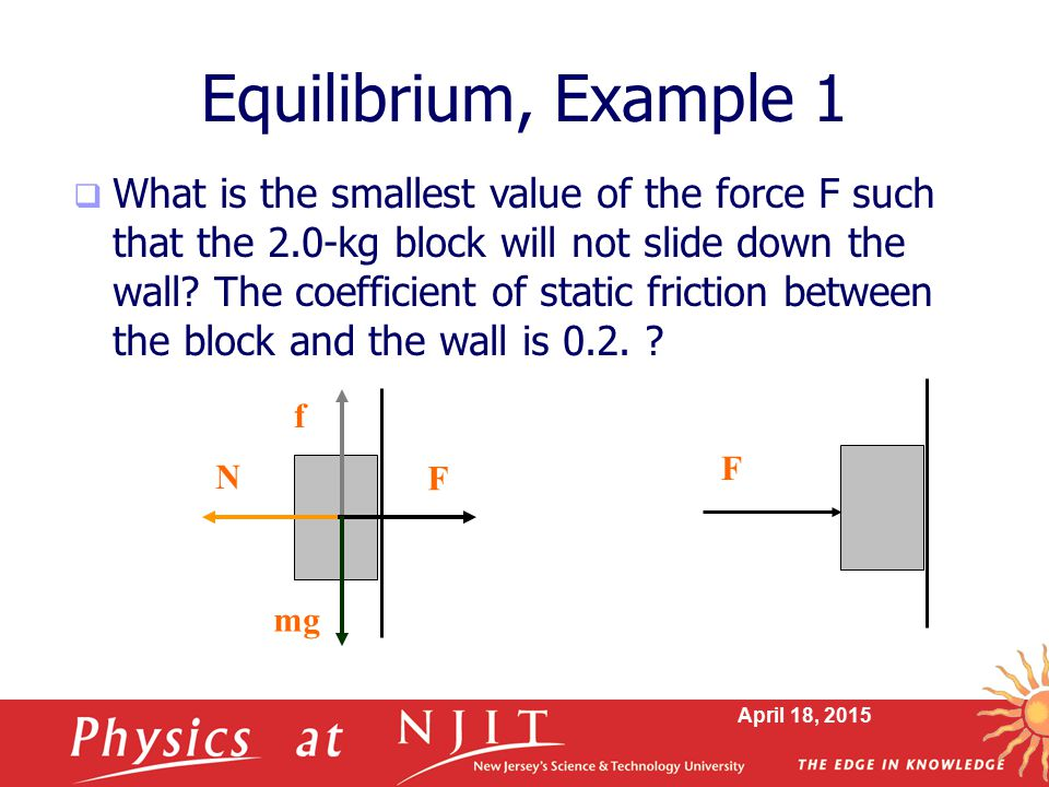 Equilibrium, Example 1