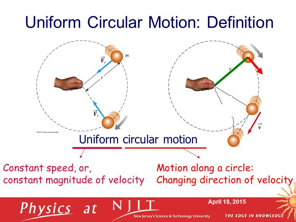 Uniform Circular Motion: Definition