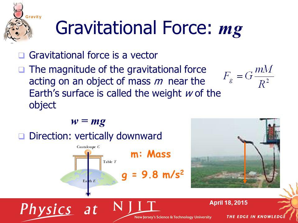 Gravitational Force: mg