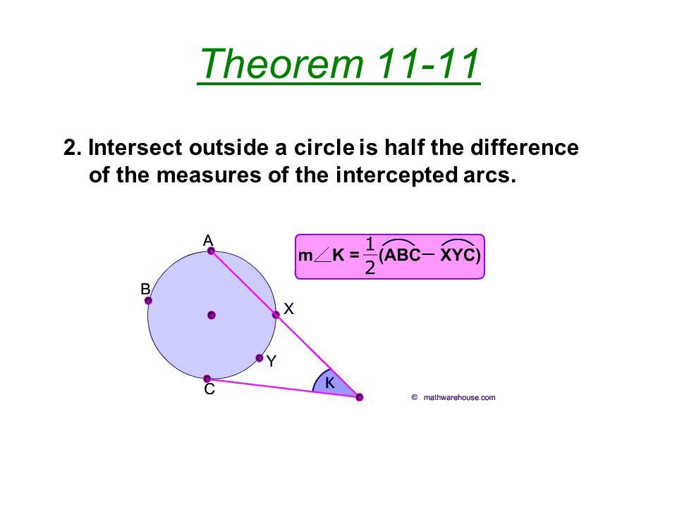 Theorem 11-11 2.
