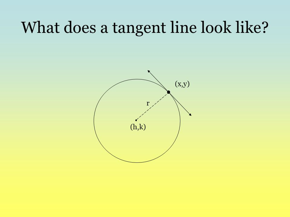 What does a tangent line look like