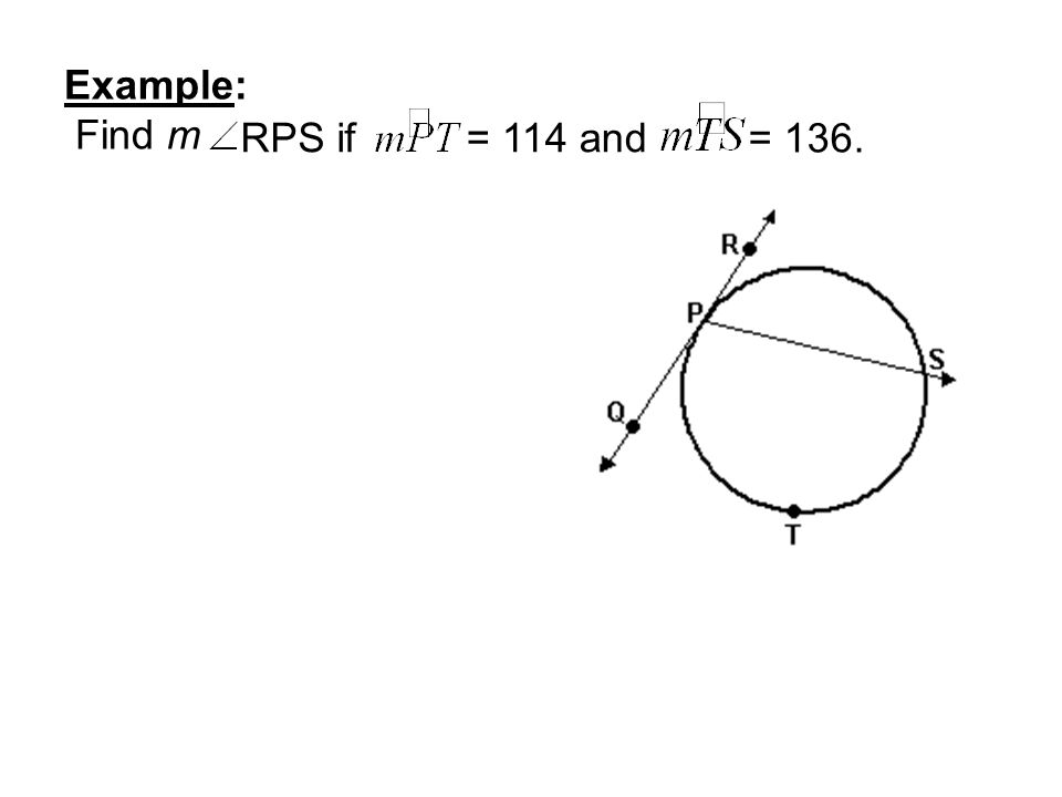 Example: Find m RPS if = 114 and = 136.