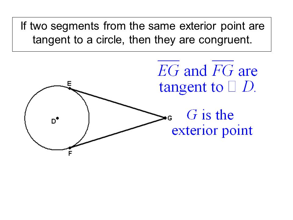 If two segments from the same exterior point are