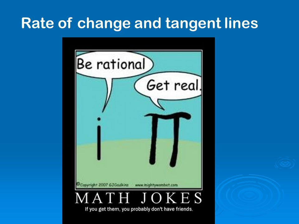 Rate of change and tangent lines