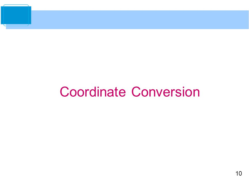 Coordinate Conversion