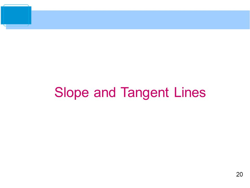 Slope and Tangent Lines