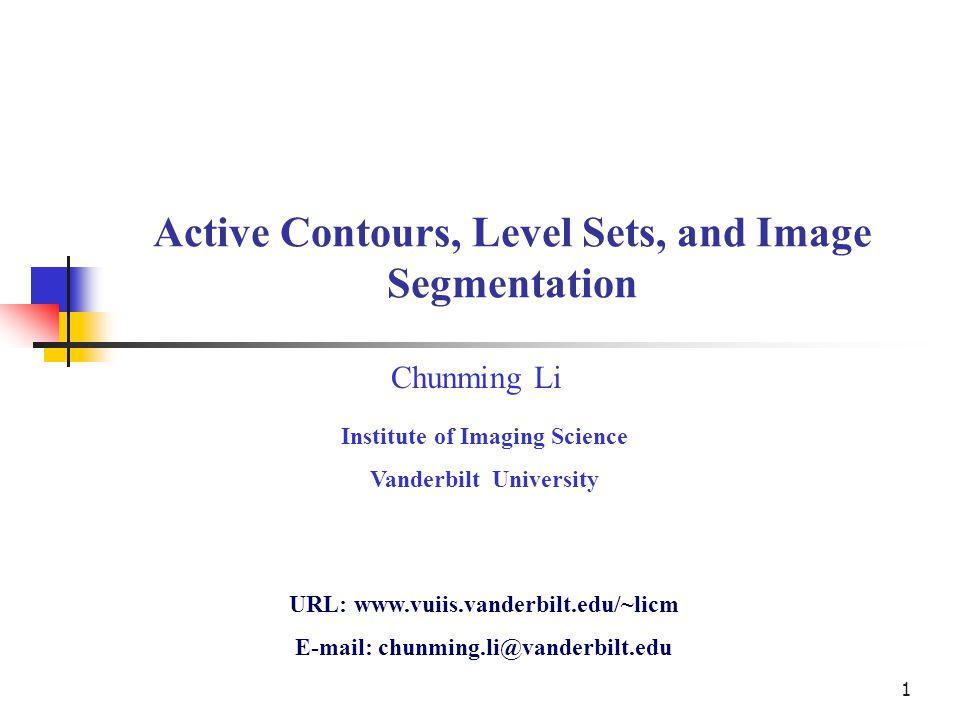 Active Contours, Level Sets, and Image Segmentation