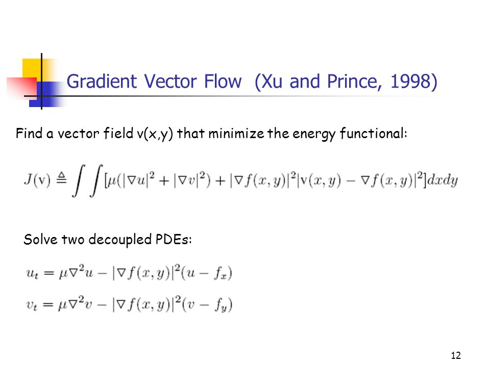 Gradient Vector Flow (Xu and Prince, 1998)