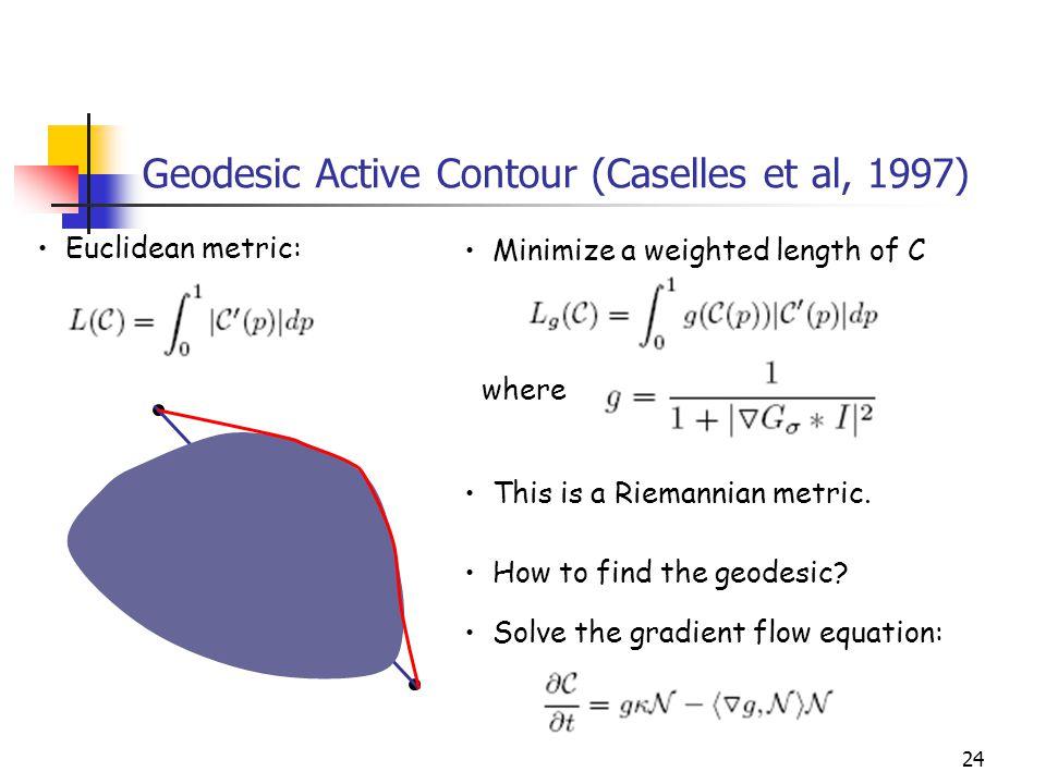 Geodesic Active Contour (Caselles et al, 1997)