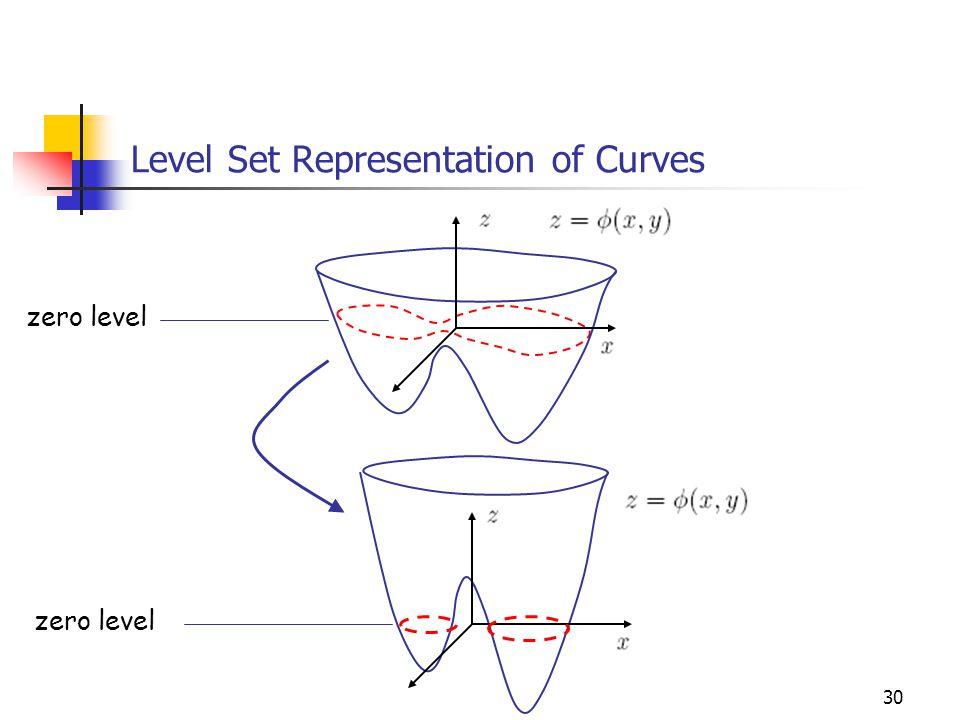 Level Set Representation of Curves