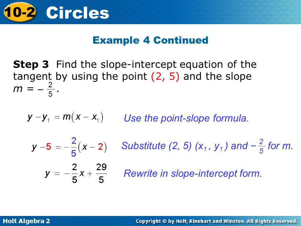 Use the point-slope formula.