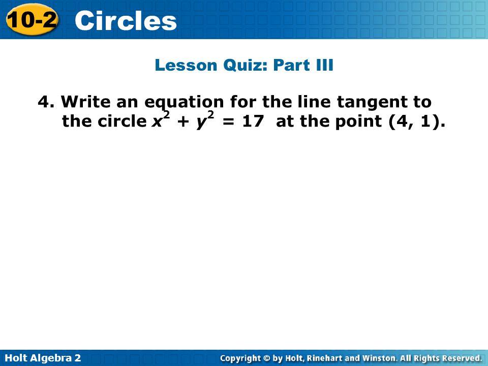 Lesson Quiz: Part III 4.