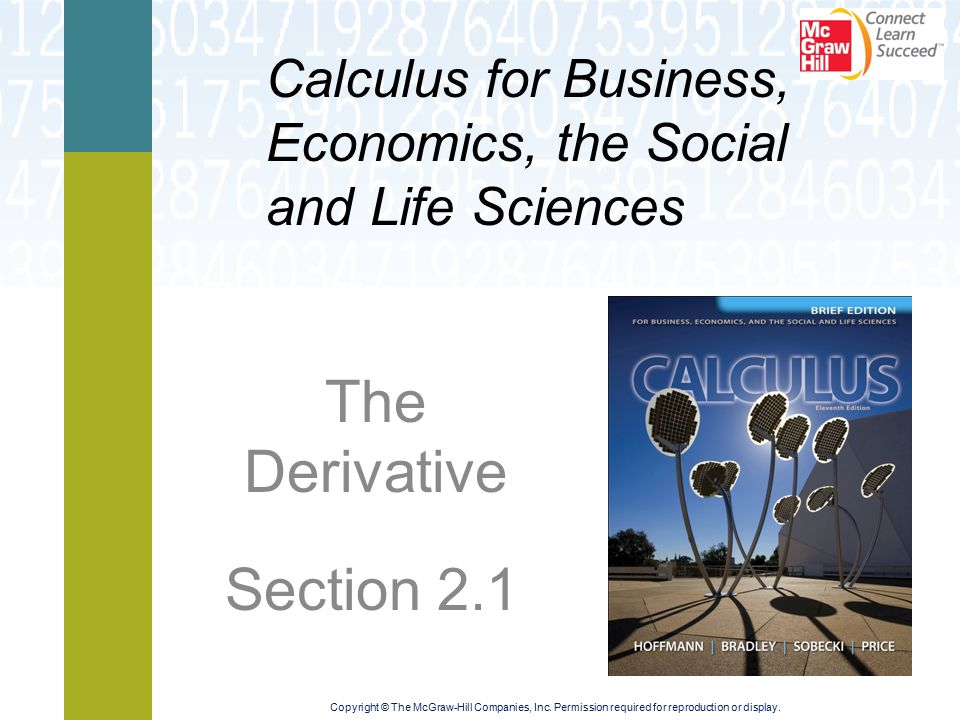 The Derivative Section 2.1