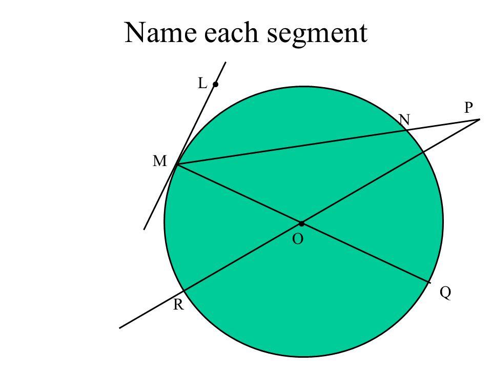Name each segment M Q O N R L P