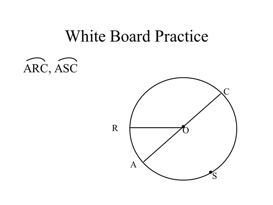 White Board Practice ARC, ASC C R O A S